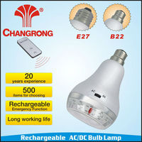 B22 20LED AC/DC Remote Control Rechargeable Bulb Lamp