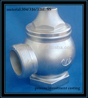 valve stainless steel casting lost wax investment casting products precision casting