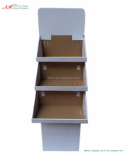 Corrugated paper makeup cosmetic supermarket/Cardboard Display Shelf Corrugated Paper Shelf Floor Display for Store