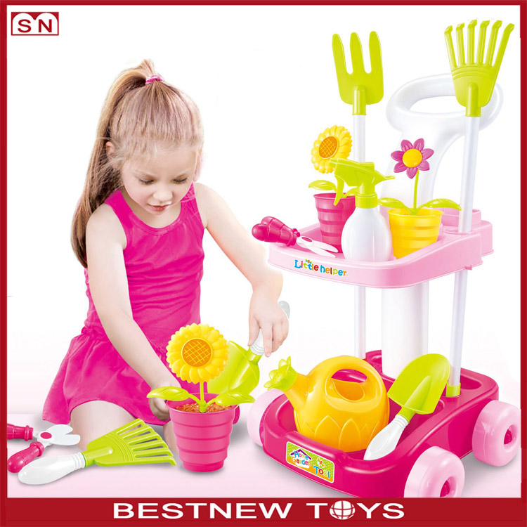 Hot Sell Plastic China Toy Kids Pretend Kitchen Play Toy Supermarket Set With Shopping Toy Car/Trolley
