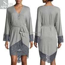 Ladies Long Night Gown For Women Plain Cotton Sexy Lace Sleep Gown Bathrobe Wholesale Online Shopping Ladies Fashion Clothing