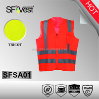 chalecos reflectivos safety vest with pockets reflective tape for clothing traffic safety vest