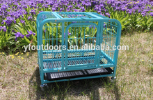 Alibaba top manufacturer good quality large steel aluminum dog cage with wheel