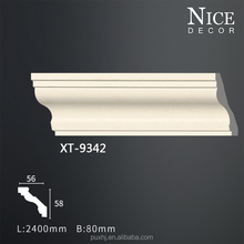 Factory price PU cornice and coving/ PU plain cornice molding for decoration