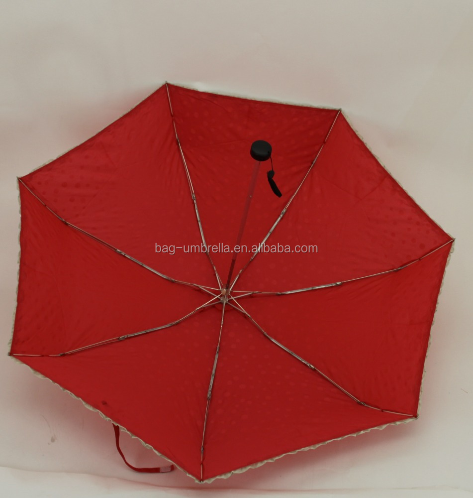 red polka dots prints umbrella sun electric bike folding umbrella windproof