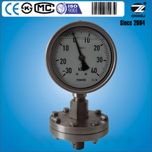 "hot selling 6"" 150mm factory price all stainless steel sanitary oil filled diaphragm seal pressure gauge"