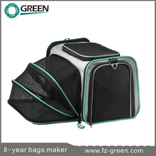 Small expandable soft sided pet carrier