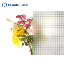 3mm 5mm 6mm Clear Nashiji Mesh Polished Fireproof Wired Glass with Competitive Prices