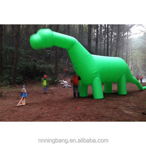 Green color giant inflatable dragon for event decoration