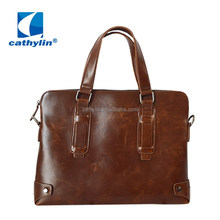 Crazy Horse Genuine Leather Messenger Vintage Business Briefcases Laptop Bag
