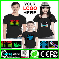 High quality EL Shirt / USA Flashing T Shirt / DJ EL T Shirt