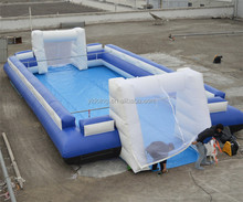 Hot sale inflatable soccer field, inflatable human foosball court, inflatable football playground commercial grade B6069