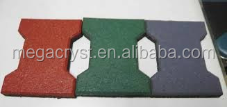 Gyms/playground/sports courts usage outdoor rubber tile/rubber flooring