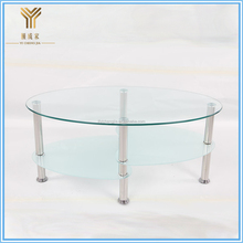 Glass End Tables Modern Cocktail Round Coffee Table