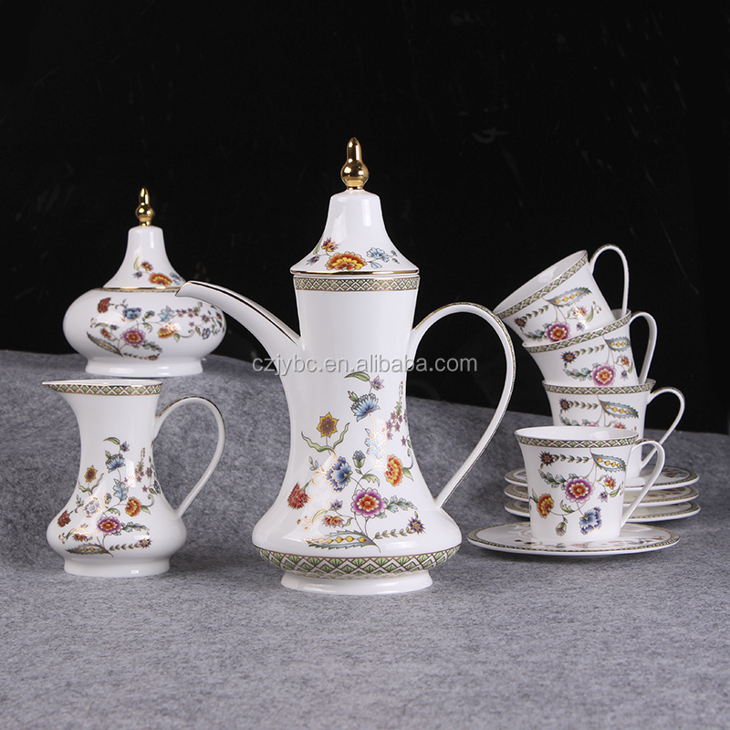 Royal style fine bone china coffee cup set