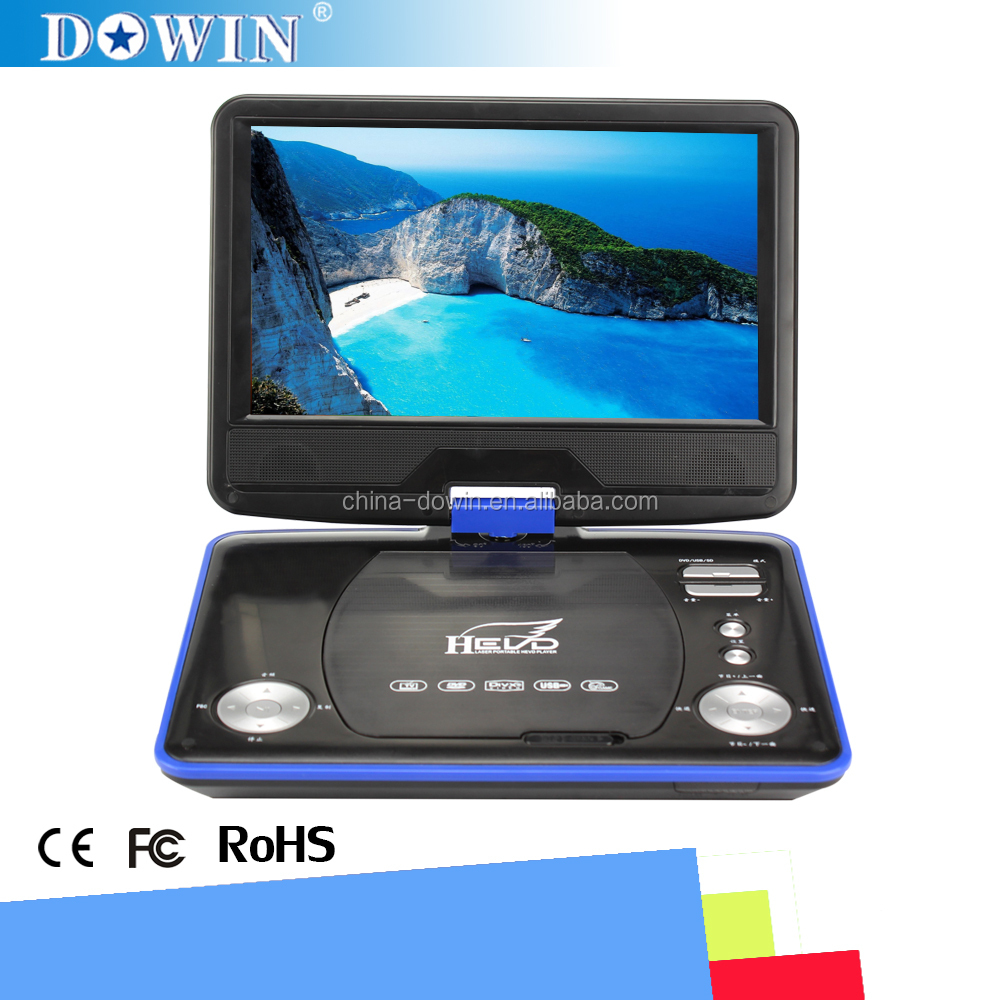 manufacture wholesale OEM nice quality USB 9 Inch Portable DVD With Card Reader & USB Port,Game Function Support SD/MS/MMC Card