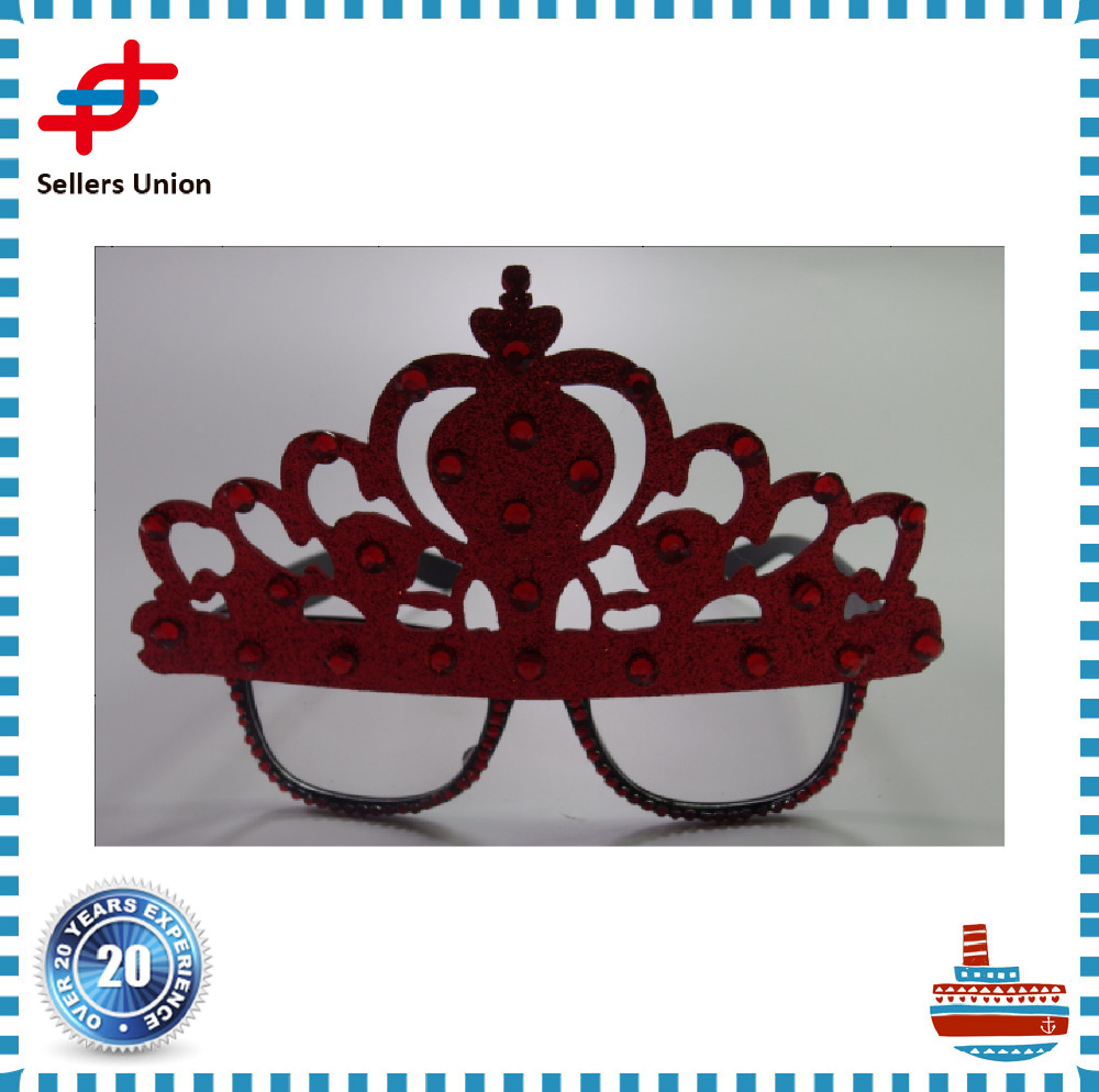 eva party glasses crown shaped promotion new model fabrication