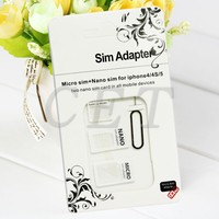 Hot selling 4 in 1 standard sim card adapter for Iphone 6 5s 4s