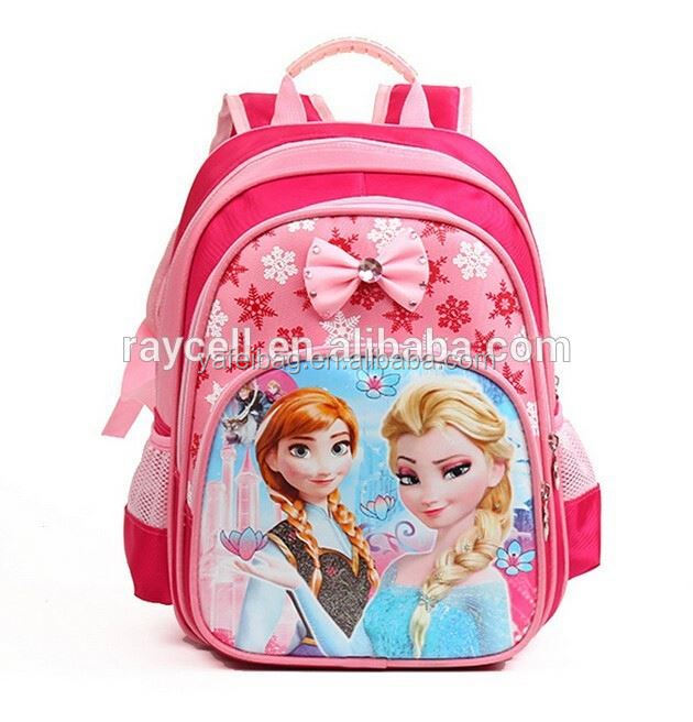 Cute cartoon frozen backpack / mickey mouse schoolbag rucksack for kids