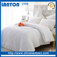 Elegant comfortable pure white goose down comforter set for hotel