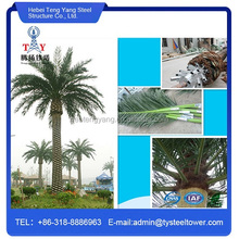 Camouflage antenna palm tree steel telecom tower
