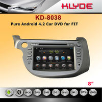 direct factory 8 inch Pure Android4.2 Car DVD player for FIT 2011
