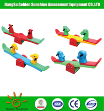 Wholesale plastic children playground double seat seesaw