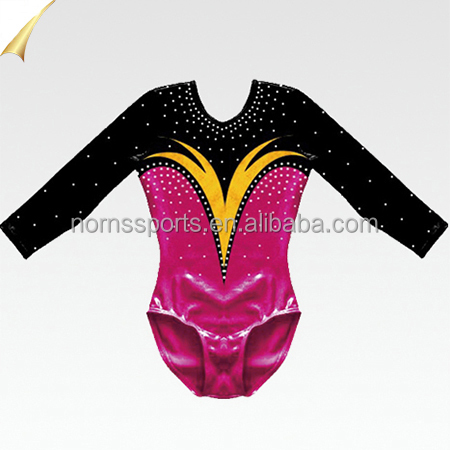 Hot Sale Adult Sexy Leotards Rhythmic Gymnastics Shiny