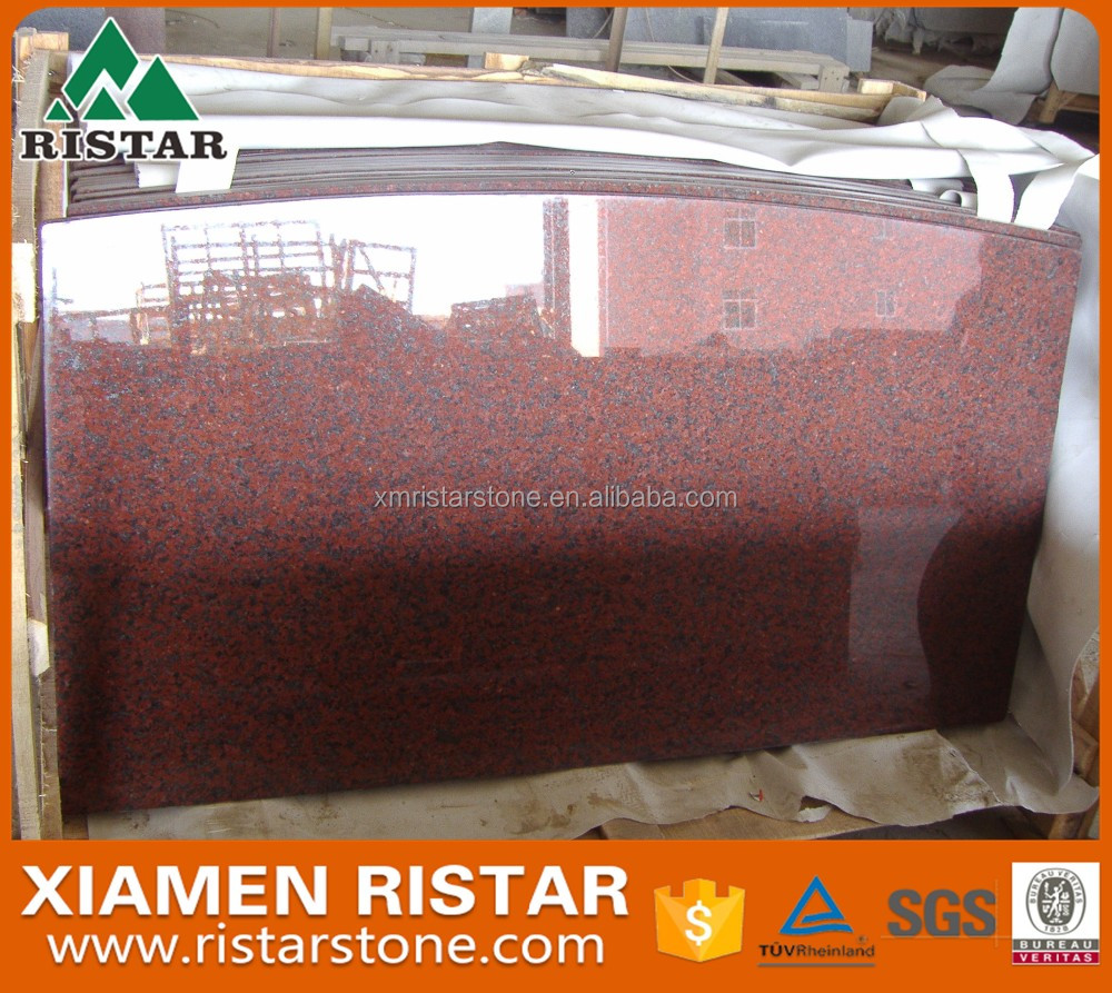Top quality South African Red granite prefab kitchen island top