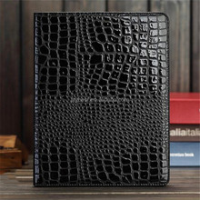 2016 Newest Top Grade Crocodile Grain leathe flip smart cover case for ipad 2 3 4