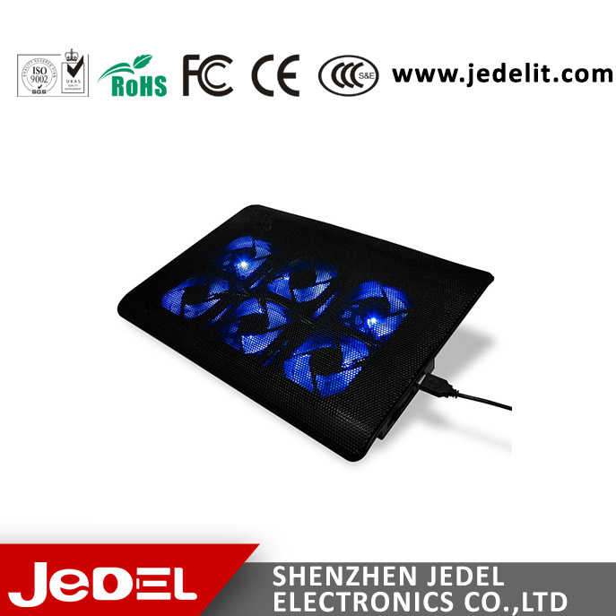 Six fans USB ports laptop cooling pad notebook cooler