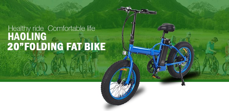 20inch folding fat bike electric foldable bike