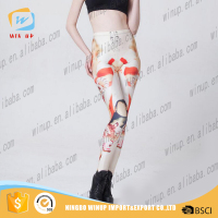 Hot Selling Women Leggings Sex Animal Print Ladies Sport Tight Pants
