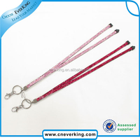 sexy women bling multi coloured rineston lanyard for promote