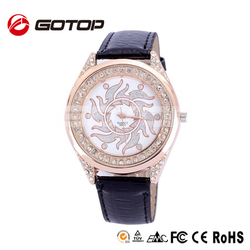 Direct buy china your logo design rose gold bling bling big face man watches famous brand