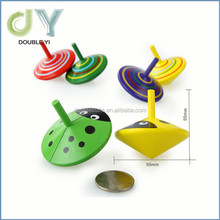 Wholesale cheap kids wooden toys Classic Childhood Small Wooden Gyro Toys Spinning Top