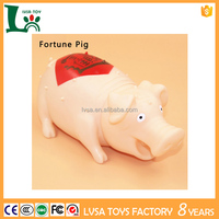 Hot Sales Bellow Pigs Toys Color Flashing Pet Animal Shape Vinyl Toy With Squealing Pig For Kids Rubber Pig Toy