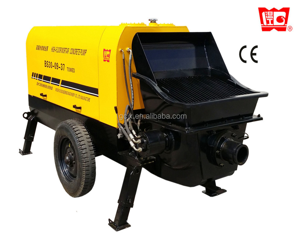 BS40-13-45 concrete hydraulic piston stationary trailer pump