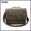Guangzhou OEM fashion genuine mens real leather handbag shoulder bag