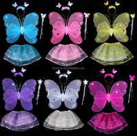 Hot sale 2016 kids Halloween dance costumes butterfly wings for Children