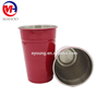 Beer Pong party stainless steel solo cups 16oz red reusable machine washable cups