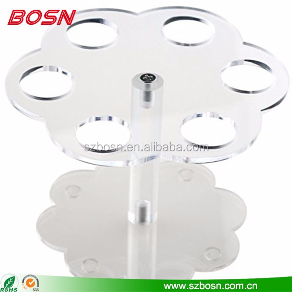 Elegant flower shape ice cream store equipment Perspex water-ice display stand counter for sale