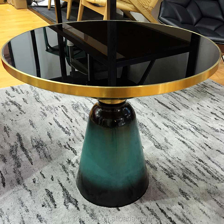 Foshan Bossion Furniture Classic Colors Glass Coffee Table