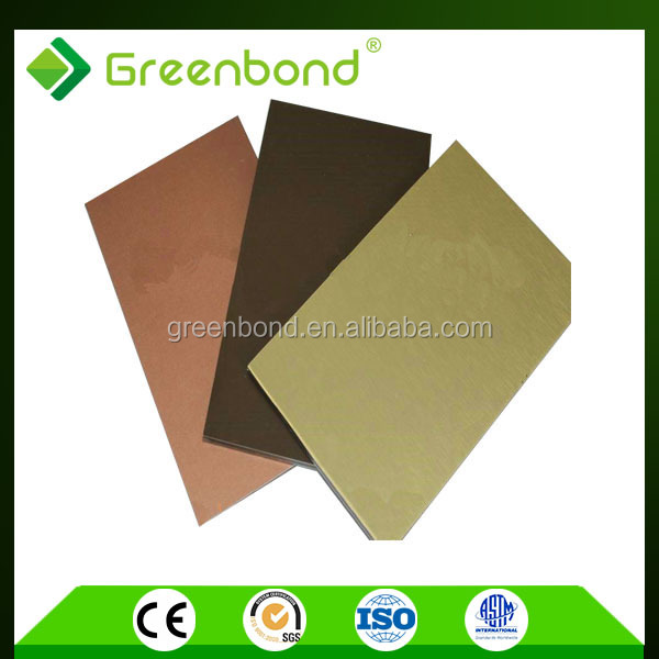 Greenbond aluminum composite roof panels decorative materials