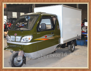 China Van Trike Ice Cream Tricycle with Container Cargo Box Sale