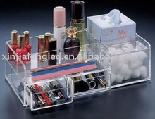 6- Compartment Acrylic Cosmetic box