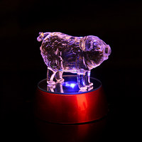 Hot sale chinese zodiac pig crystal material for home decoration