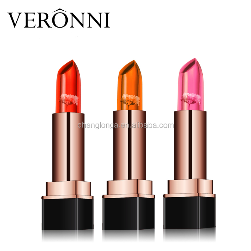 The Best Selling VERONNI Flower Lipstick 3 Colors Jelly Flower Lipstick Jelly Lipstick