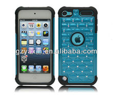 Bling Silicone Protective Diamond Case for iPod Touch 5,for ipod touch 5 luxury case