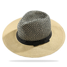 New Product 2018 European Style Two-tone Paper Panama Straw Hat For Summer